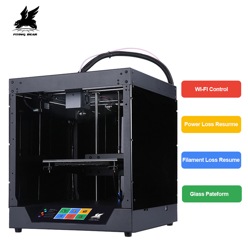 Flyingbear-Fantasma 3d Stampante full frame in metallo 3d kit stampante per Attività