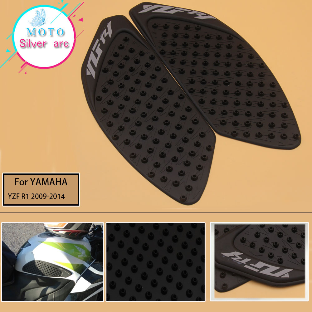 For Yamaha YZF R1 2009 2010 2011 2012 13 14 Motorcycle Anti Slip Tank Pad  Side Gas Knee Grip Traction Pads Protector Sticker
