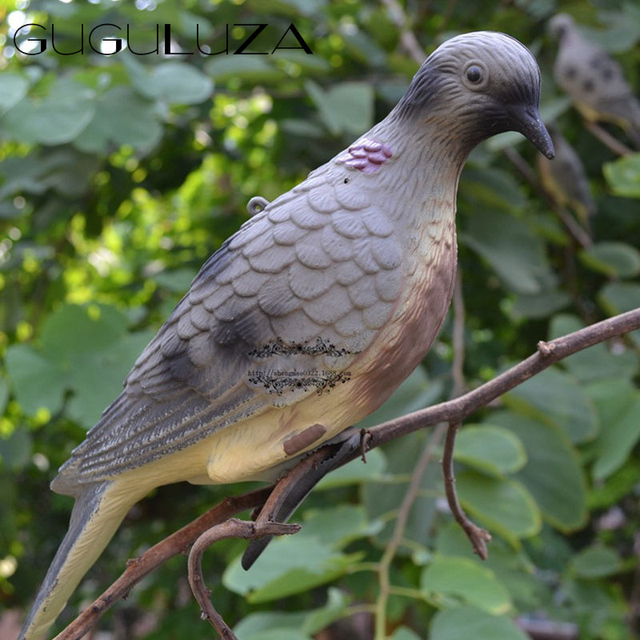 GUGULUZA Hunting Dove Scare Protect Garden Pigeon Decoy Bionic Animal Bait  Outdoor Hunting Birds Decoy Accessory