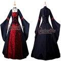 Бесплатная Доставка На Заказ Элегантный С Длинным Рукавом Викторианской Dress Костюм Gothic Dress Бальное платье