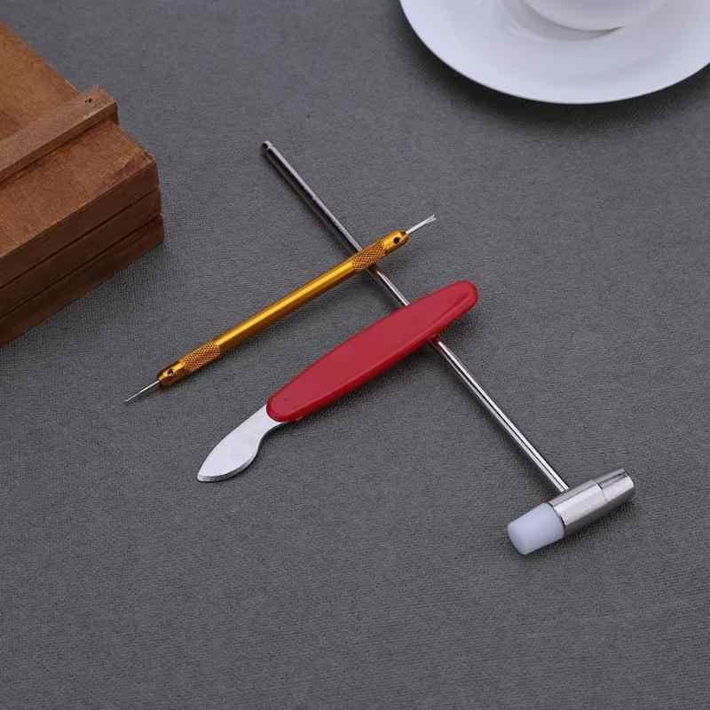 147 Pcs Pembuat Jam Watch Link Pin Remover Case Pembuka Perbaikan Alat Kit Set Pembuka Link Spring Bar Remover Horlogemaker Gereedschap