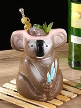 750ml Koala Bear Hawaii Tiki Mugs Cocktail Cup Beer Beverage Mug Wine Ceramic Easter Islander Bar Tools