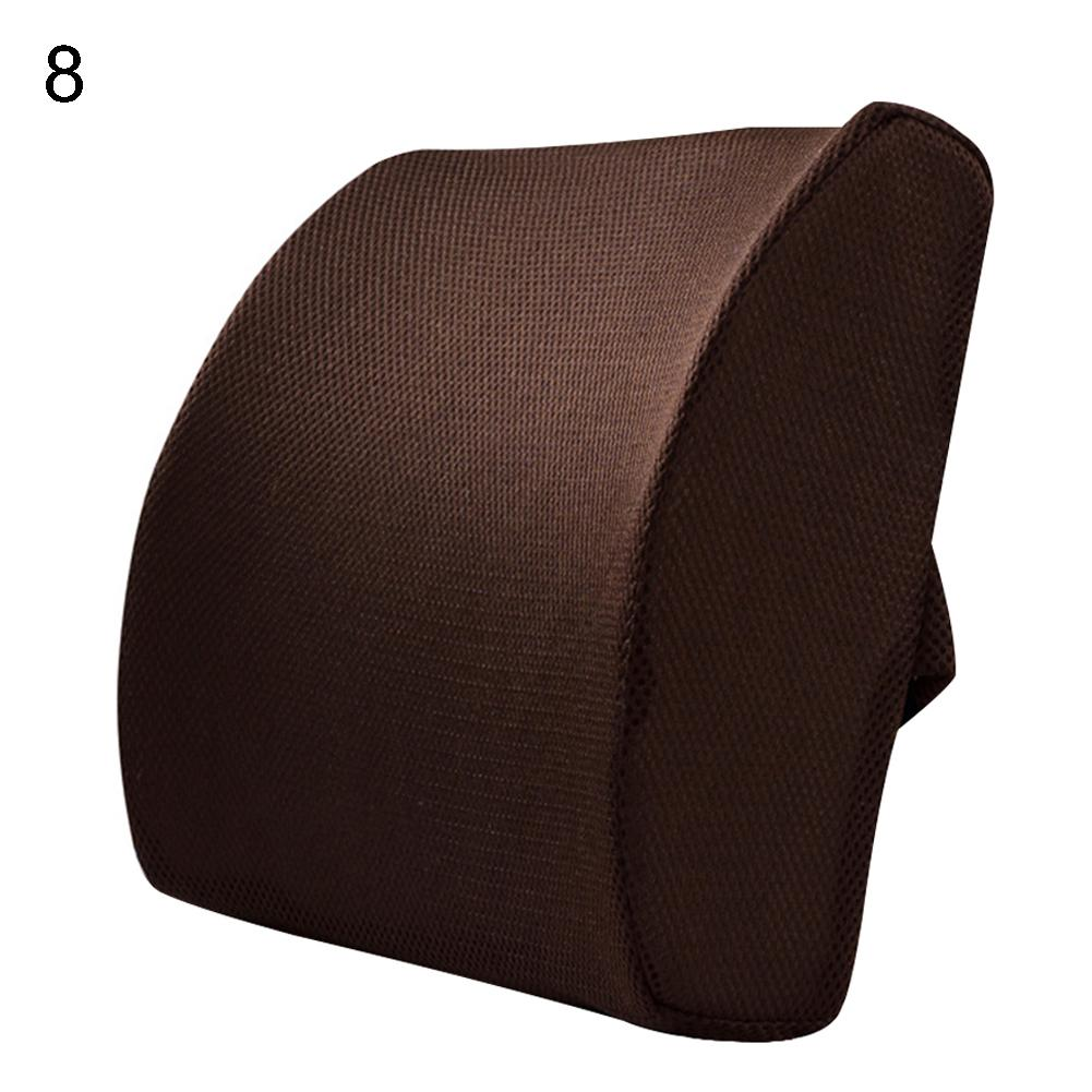 Interior Accessories Car Seat Office Chair Memory Cotton Breathable Back Waist Support Cushion Pad
