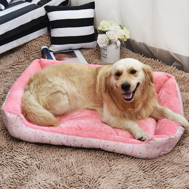 Soft Dog Beds Warm Fleece Lounger Sofa for Small Dogs Large Dog Golden Retriever Bed Husky Kennel Pet Products XS to XL size 3