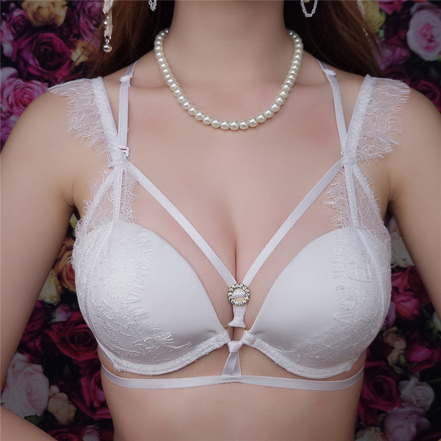 2017 Fashion Luxury Brand Sexy Lace Straps Bra Set VS Push Up Bra Sweet Girl Women Underwear Bra and Panty Sets