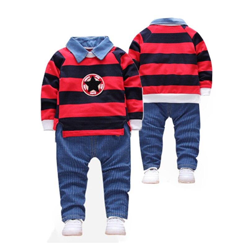 Módní chlapci oblečení sady různé barevné hvězdy chlapci - Dětské oblečení
