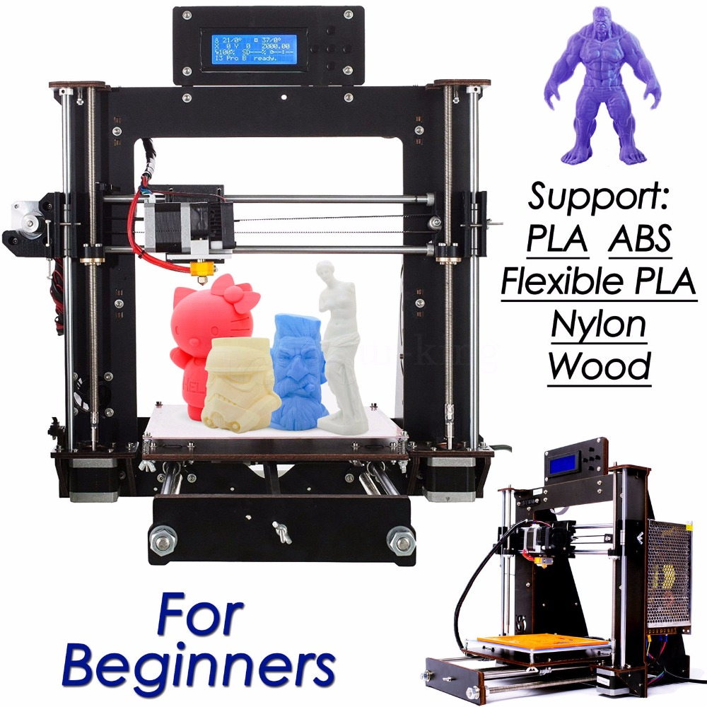 3D Printer Latest Upgraded Full Quality LCD High Precision Reprap Prusa i3 DIY 3d Printer