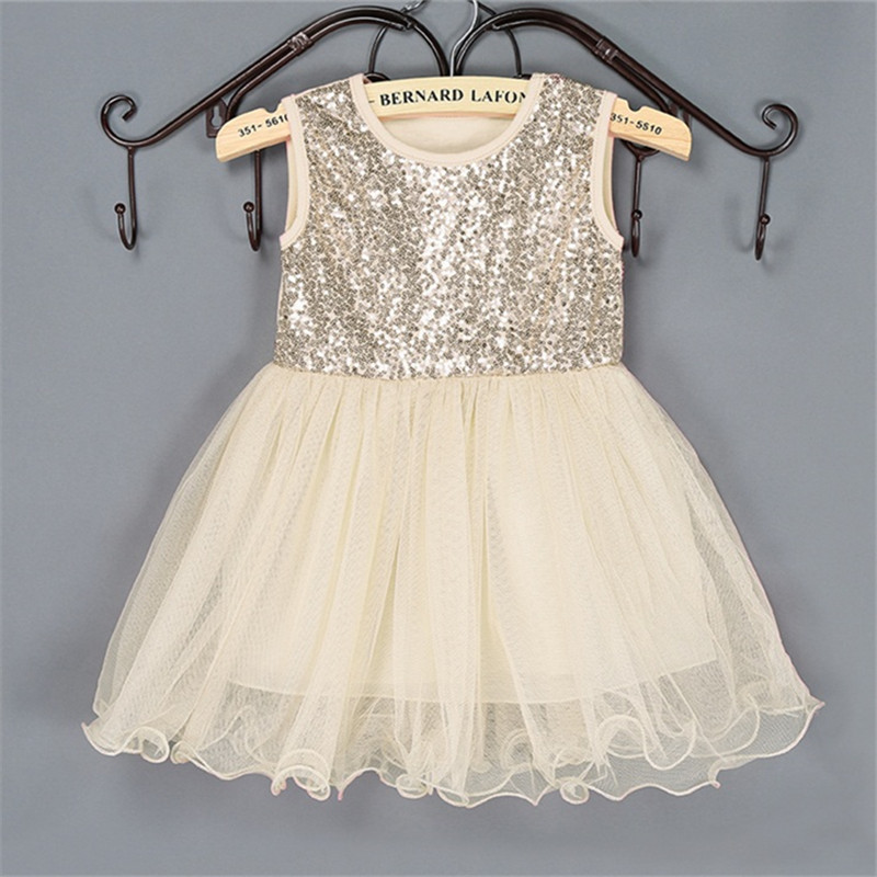 Little Girl Summer Dress For 2-9 Years Sequined Ball Gown Prom Costume For Girls Tutu Dress For Teens Formal Events Clothing