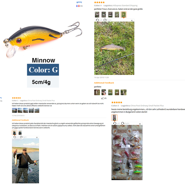 Minnow Fishing Lures 5cm 4g Floating Isca Artificial Japan Hard Bait Bass Topwater Pesca Wobblers Crankbait Carp Fishing Tackle 5