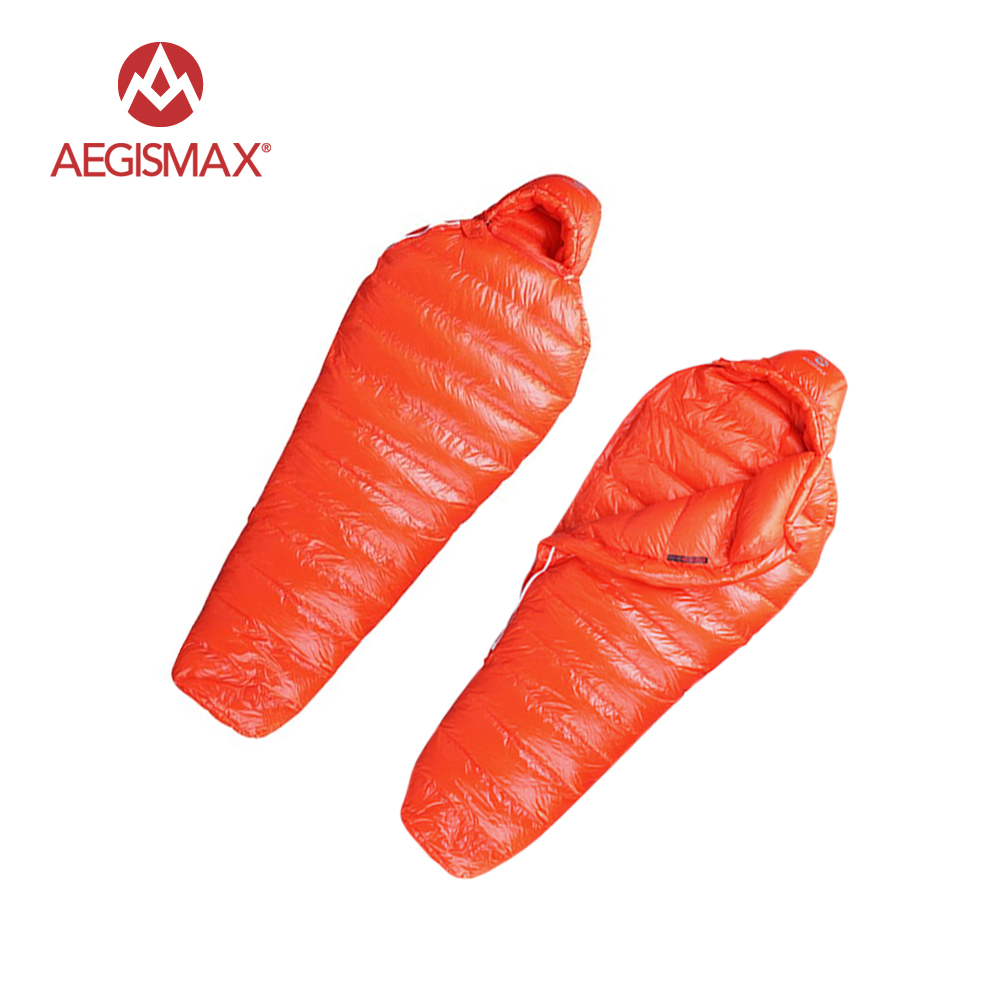Aegismax UL600/UL800 Ultralight Mummy 95% White  Goose Down Sleeping Bag Camping Mummy Winter Sleeping Bag ul