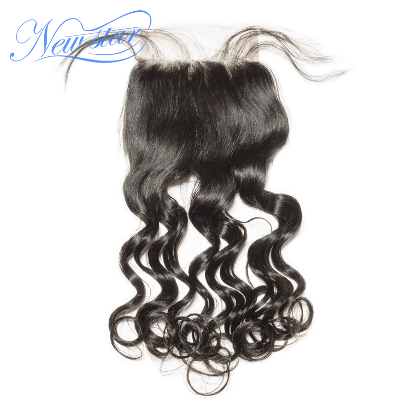 4x4 Lace Closures Loose-Body Human-Hair-Products Free-Part Virgin Natural-Color Brazilian