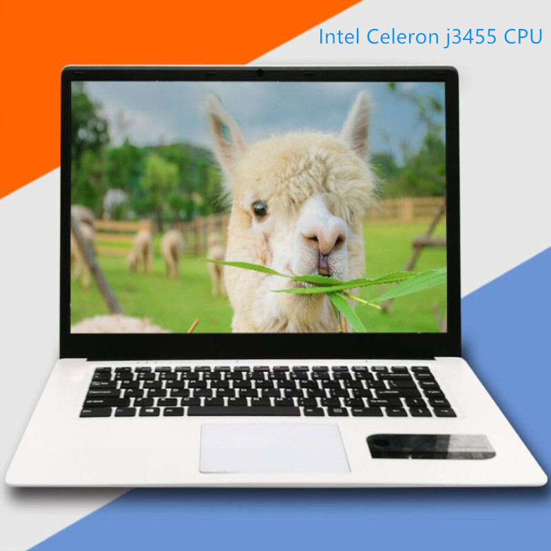 8GB RAM+60G/120G/240G/480G SSD Notebook Laptop 15.6inch LED 16:9 HD 1920x1080P Intel Celeron J3455 Quad Core HD Graphics Win10