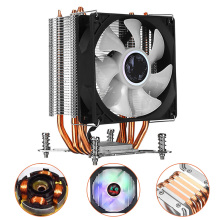 3 Pins CPU Cooler Fan Ultra Quiet Heatsink 4 Heatpipe Radiator RGB Cooling For Intel LGA 2011