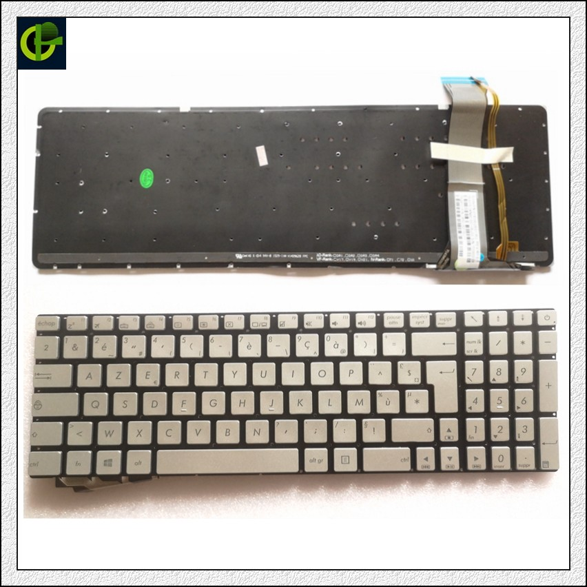 French Backlit Keyboard For ASUS GL552 GL552J GL552JX GL552V GL552VL GL552VW N751 N751J N751JK N751JX G551VW FR