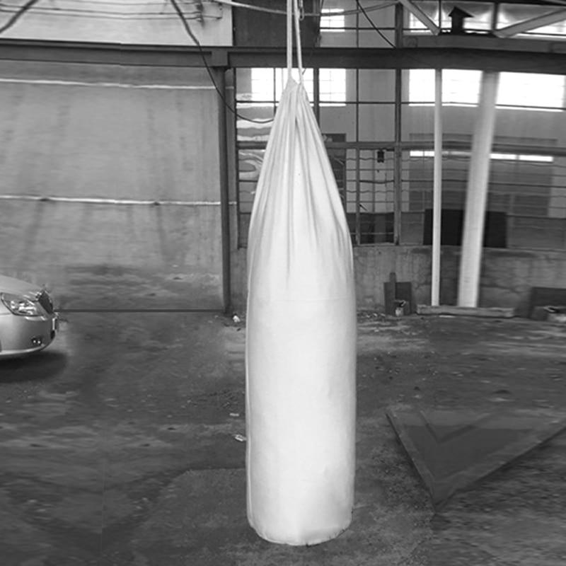 60 to 200cm white canvas Adult or Children s taekwondo hanging style Sanda boxing sandbags iron