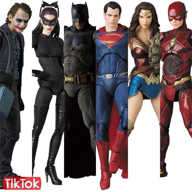 Maf Justice League Batman Superman Joker The Flash Catwoman Wonder
