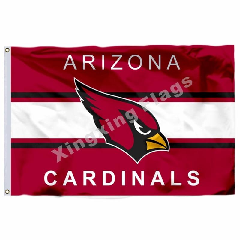 Arizona Cardinals Wordmark Flag 3ft x 5ft Polyester NFL Arizona Cardinals Banner Flying Size No.4 144* 96cm Custom flag