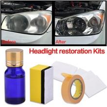 10 MLCar налобный фонарь полировка против царапин для автомобиля фара Lense увеличение фары реставрация комплект ремонт жидкости