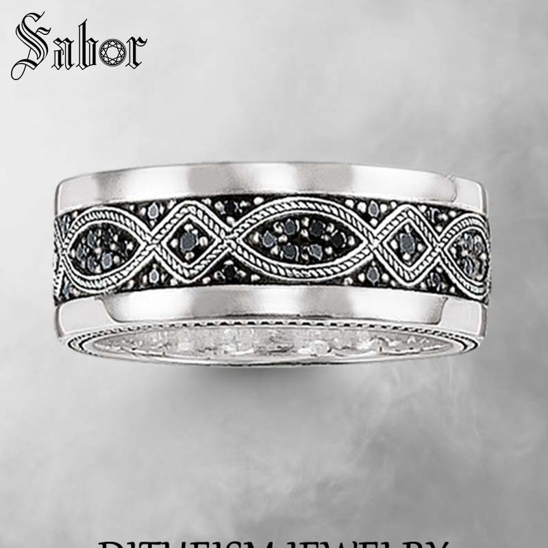 a7079011a28a Color oro nudo de amor boda anillos 2019 nueva 925 de plata esterlina  Zircon Pave joyería de moda regalo para las mujeres y los hombres thomas
