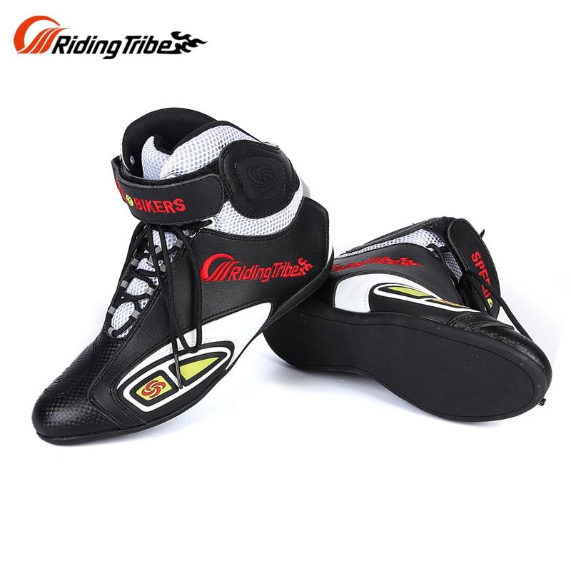 KWOKKER bottes de Moto vitesse vélos chaussures courtes Moto course équitation Motocross Moto mode équipement de protection Moto bottes