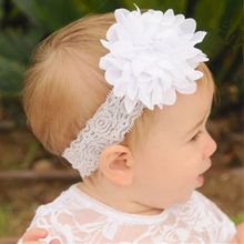 1PC Kids Girls Headband Lace Bow Big Flower Halloween Birthday Party Headdress Headwear Hairband Hair Band Accessories(China)