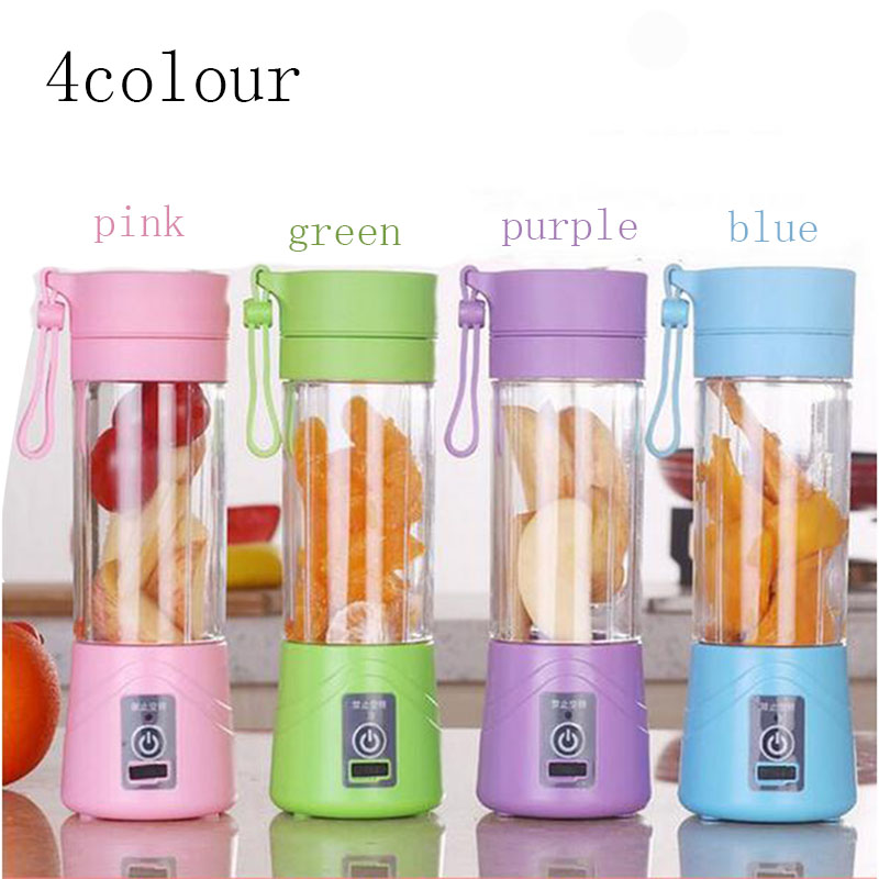 Electric Fruit Vegetable Juicer Machine Mini Portable USB Rechargeable Smoothie Maker Blender Shake And Take Juice