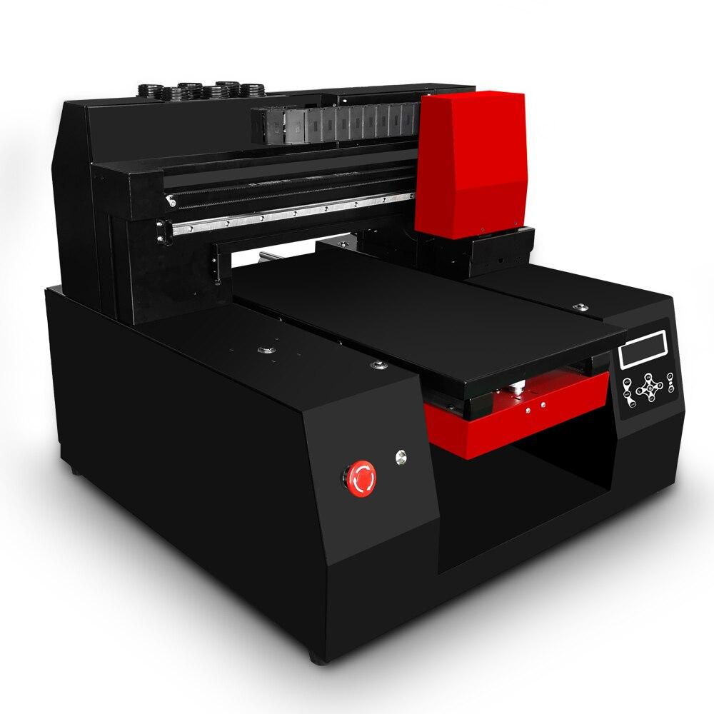 2018 Automatique 3060 UV à plat imprimante Bois Machine D'impression A3 taille D'impression UV imprimante Pour Carte En Verre En Céramique