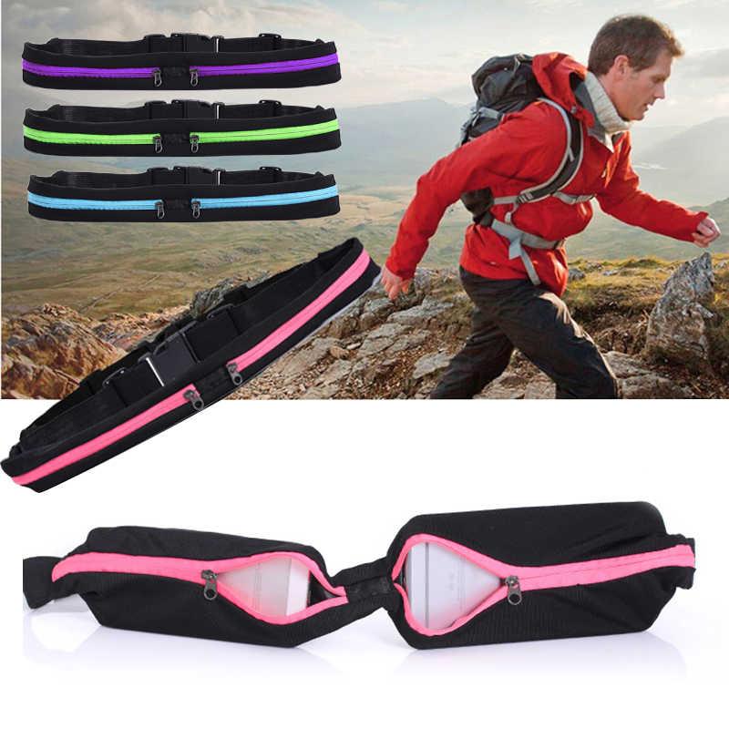 Running Belt Pocket Waistbag Waterproof Phone Belt Nylon Casual Small Bag Men Women Outdoor Travel Running Sport Cycling Pockets