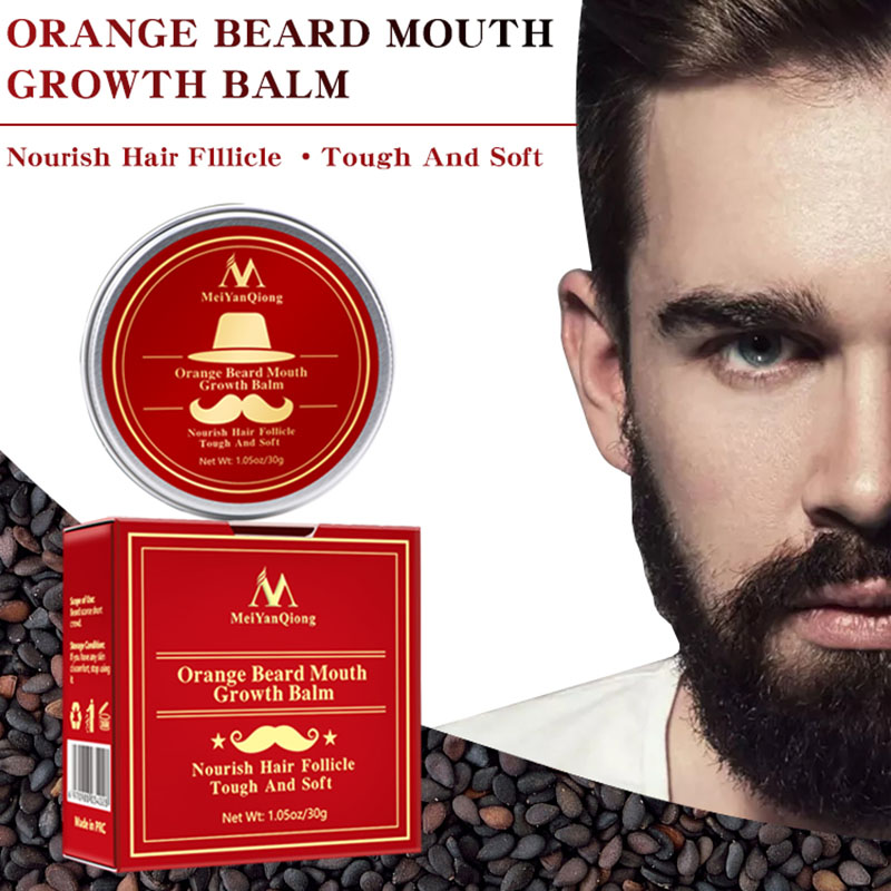 Men Beard Moustache Growth Balm Moisturizing Smoothing Care Cream Grooming SSwell