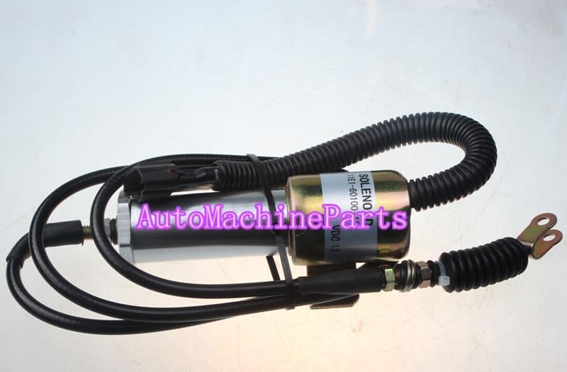 11E1-60100-12 Shutoff Solenoid 60V1-60100-12 for Hyundai 130-5 11E1 R210-7 R210 montblanc