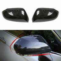 Carbon Fiber Style ABS Car Rearview Side Mirror Cover Trim For Toyota Camry 2018 2019