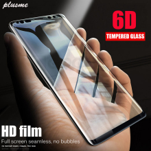 Plusme 6D Screen Protector Tempered Glass For Samsung Note8 Full Curved Galaxy S8 S9 A8 Plus