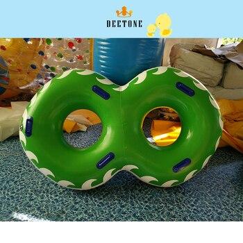 9b412727e 0,6 mmpvc inflable natación círculo vida boya parque acuático tobogán doble  círculo de agua