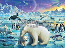 100% Full DIY 5D Diamond Painting Animals Polar Bear Dolphins Cross Stitch Embroidery Decoration Mosaic Home Decor Gifts