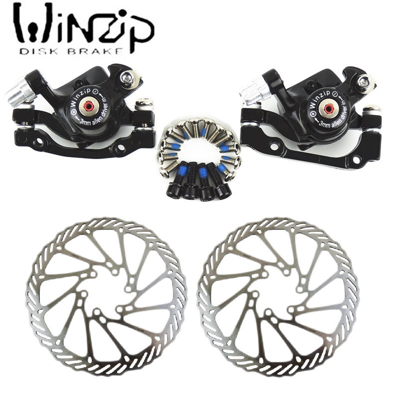 MTB Bicycle Disc Brake calipers Device winzip For 180mm 160mm 160mm 140mm Disc Rotor Mechanical Disc
