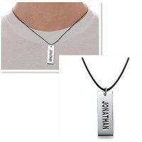 Vertical Tag em mão carta selo colar de pingente personalizado para homens pai presente