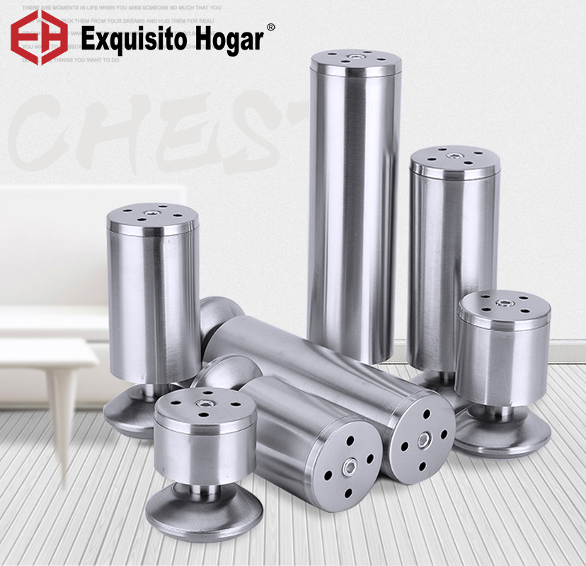 Stainless Steel Metal Furniture Legs Kitchen Adjustable Feet Round Table Cabinet Metal Foot Sofa Bed Feet 4PCS bqlzr 150x63mm square shape silver black adjustable stainless steel plastic furniture legs sofa bed cupboard cabinet table bench
