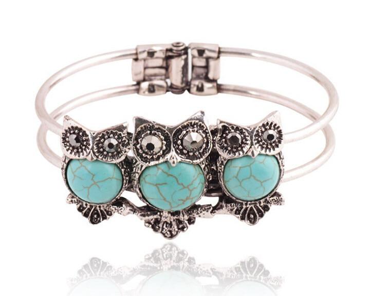Bohemian Tibetan Stone Silver Color Wristband