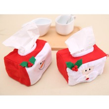 Christmas Style Santa Claus Tissue Box Case Holiday Supplies