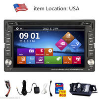 Double 2 din Car DVD Player GPS Navigation Auto Radio In dash Car PC Stereo Video Steering Wheel Free Map Car Multimedia Player