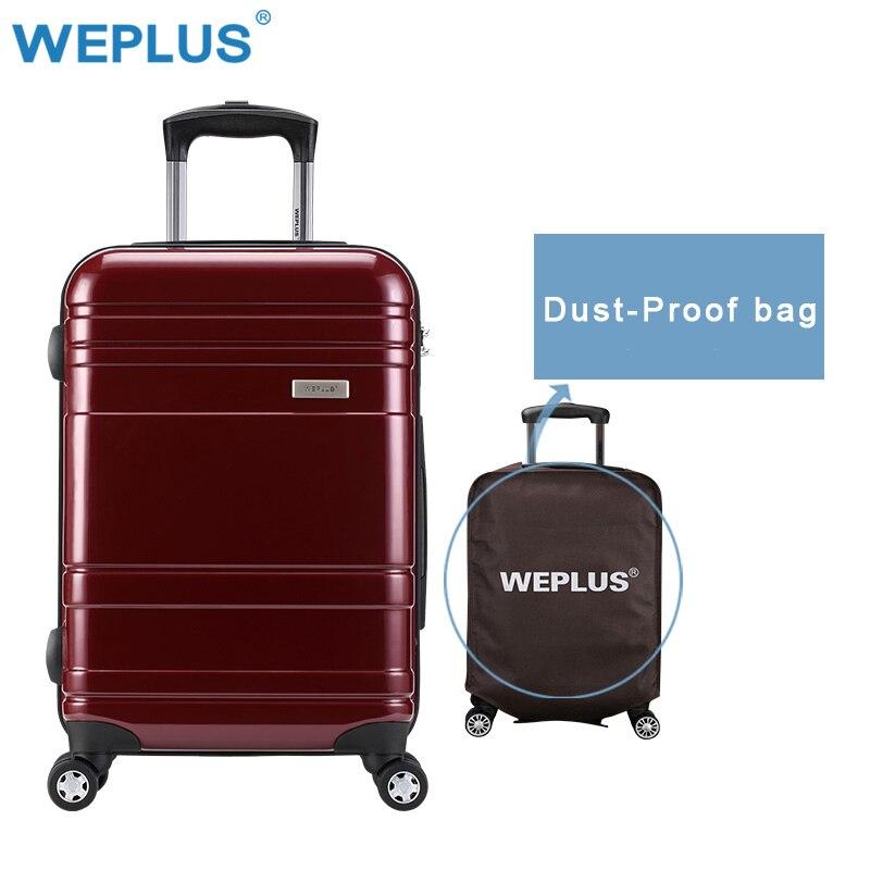 WEPLUS 24 pouces bagage PC Shell métal timon roulant sac à bagages boîtier de chariot valise de voyage roues femmes hommes livraison gratuite