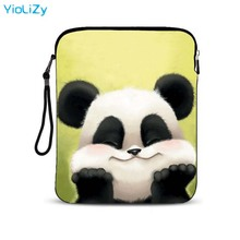 panda print 9.7 inch Ultra-thin PC tablet Case laptop pouch smart protective bag customize mini notebook sleeve Cover IP-151128