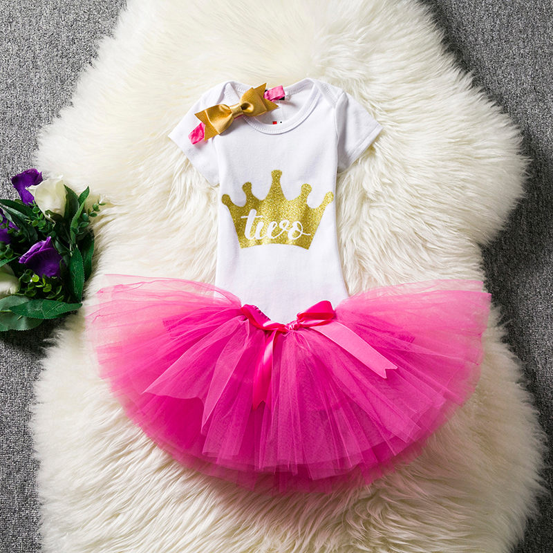 Second 2nd Birthday Dress Outfits Infant Party Dress Toddler Baptism ...