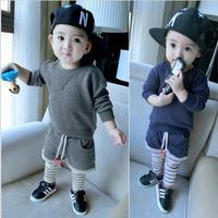 Baby Boy Quần Áo Dài tay Mùa Thu Phù Hợp Với Trẻ Em 's Mặc Dệt Kim Áo Len Đặt Sọc Xà Cạp Bông Disfraz Infantil