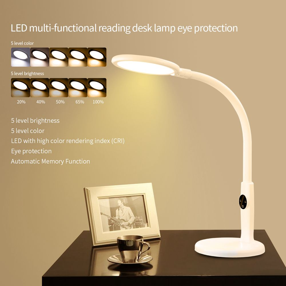 Flexible Desk Lamp Touch Table Lamps For Living Room Gooseneck Desktop  Foldable Dimmable Eye Protection Study Lamp Led Light