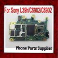 100% Tested Well & Original Unlocked Mainboard For Sony Xperia Z1 L39h/C6902 Motherboard with Chips,Free Shipping