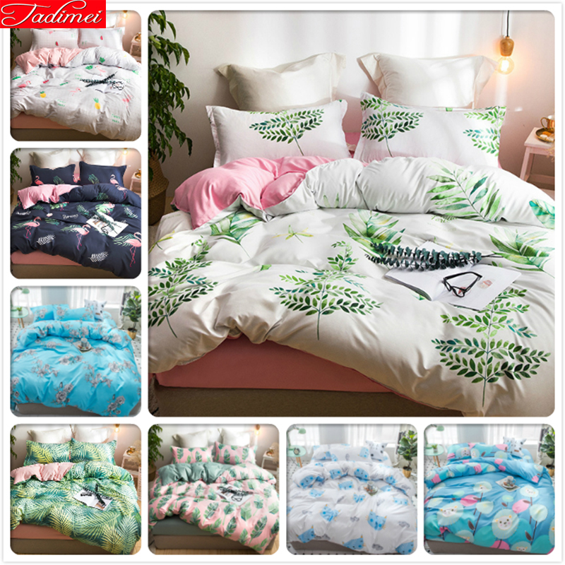 Green Leaves Pattern Duvet Cover 3/4 pcs Bedding Set Adult Kids Child Bed Linens Soft Comfortable Single Double Queen King SizeGreen Leaves Pattern Duvet Cover 3/4 pcs Bedding Set Adult Kids Child Bed Linens Soft Comfortable Single Double Queen King Size