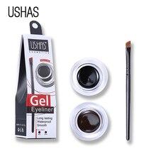 USHAS Brown Black Matte Eyeliner Gel Waterproof Brand Makeup Set Quick Dry Long Wear Eye Liner Cream Eyeliner Pencil with Brush