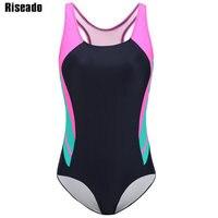 Riseado New 2018 One Piece Swimsuits Brand Swimwear Women Athletic Sports Swimming Suits Competition Swim Wear