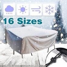 20 размер, открытый водонепроницаемый пылезащитный чехол, мебель, диван, стул, стол, покрытие для сада, патио, защита от дождя, снега, Защитные Чехлы
